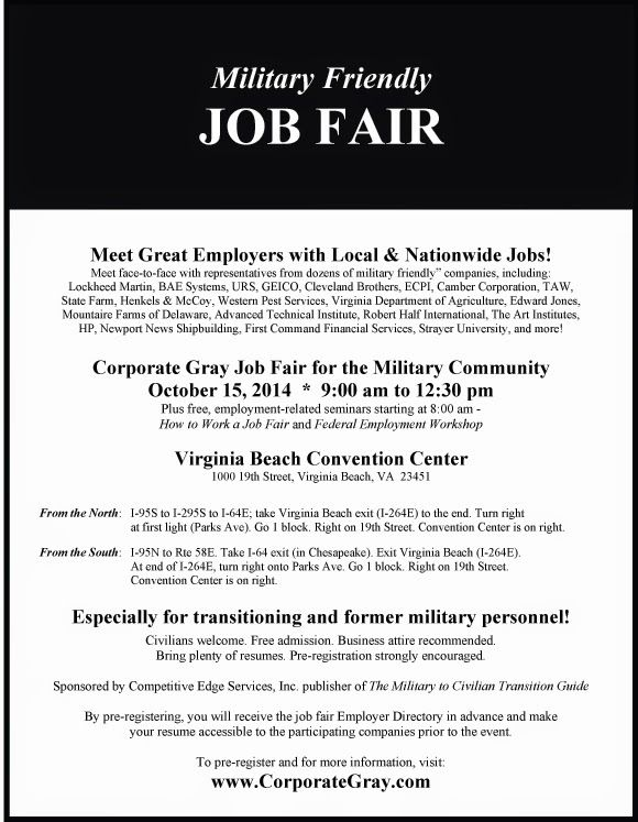 Corporate Gray Job Fair for the Military Community