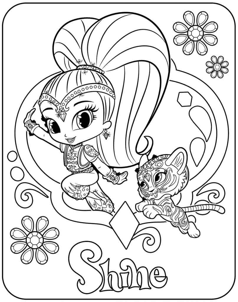 Shimmer And Shine Coloring Pages Free Coloring Pages Coloring