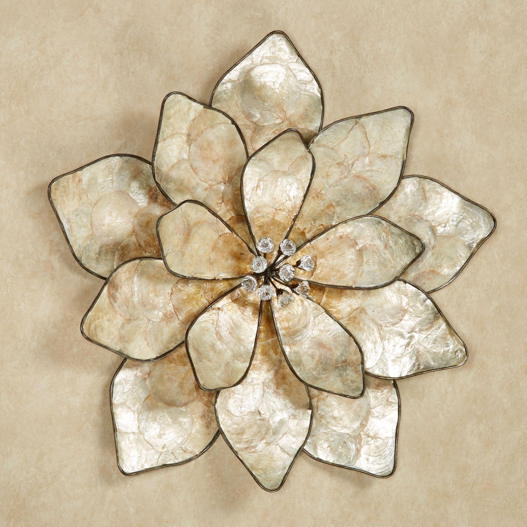 Eloquence Bloom Capiz Shell Flower Wall Art Metal Flower Wall Decor Metal Tree Wall Art Flower Wall Art