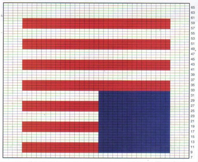 Free Crochet American Flag Graph Pattern Crochet Filet