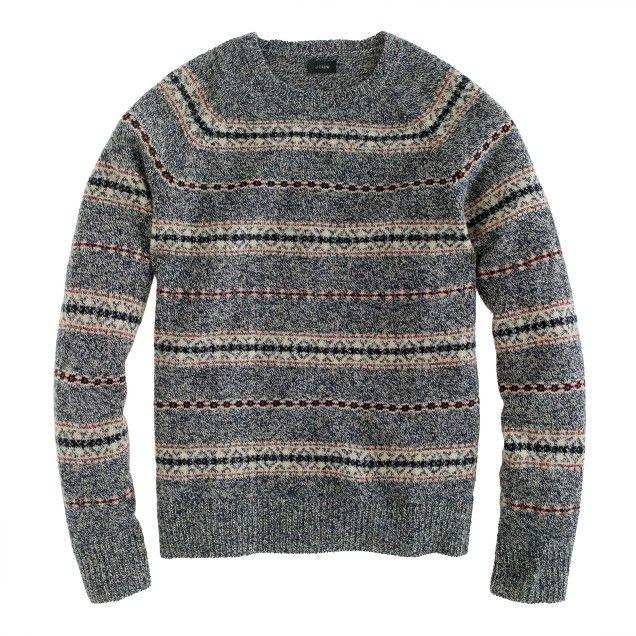 Lambswool Glencoe Fair Isle sweater | Suéter hombre | Pinterest