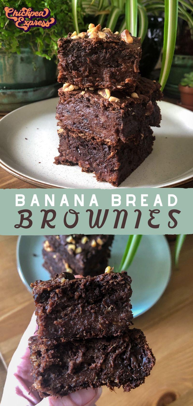 Vegan Banana Bread Brownies