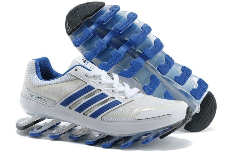 Authentic Adidas Mens Springblade White Blue running shoes