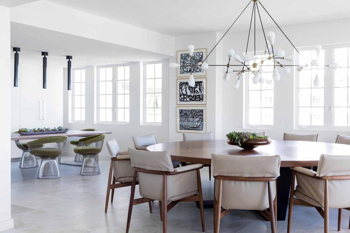 Dining room in a Fisher Island beach home by Hinojosa Design Studio ...