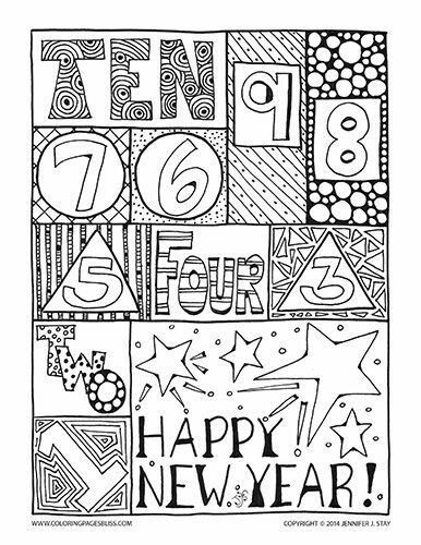 Happy New Year Coloring Pages New Year Coloring Pages Free Coloring Pages Printable Coloring Pages