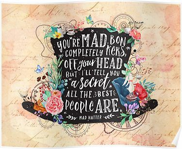 Mad Hatter Poster by Stella Bookish Art