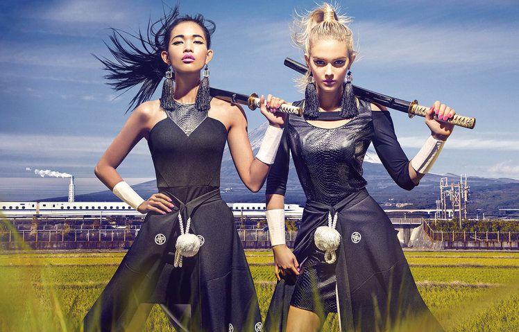 El fotógrafo chino Chen Man muestra este otoño-invierno 2014-2015 las chicas guerreras de Guess - Ediciones Sibila (Prensapiel, PuntoModa y Textil y Moda)