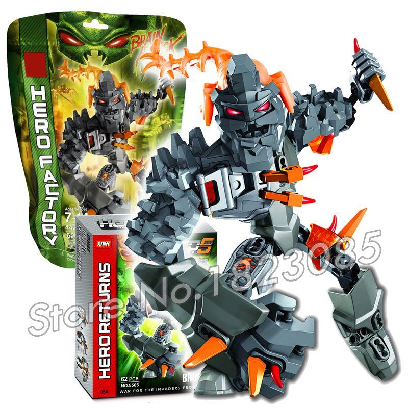 Click To Buy 62pcs Bela Hero Factory Brain Attack Bruizer Model Building Blocks Bricks Robots Education Toys Compatibl Block And Brick Toys Building Toys