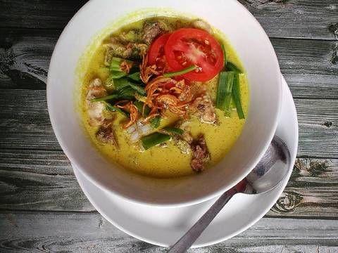 Resep Soto Daging Sapi Santan Oleh Aura Riza Resep Daging Sapi Makanan Makanan Dan Minuman