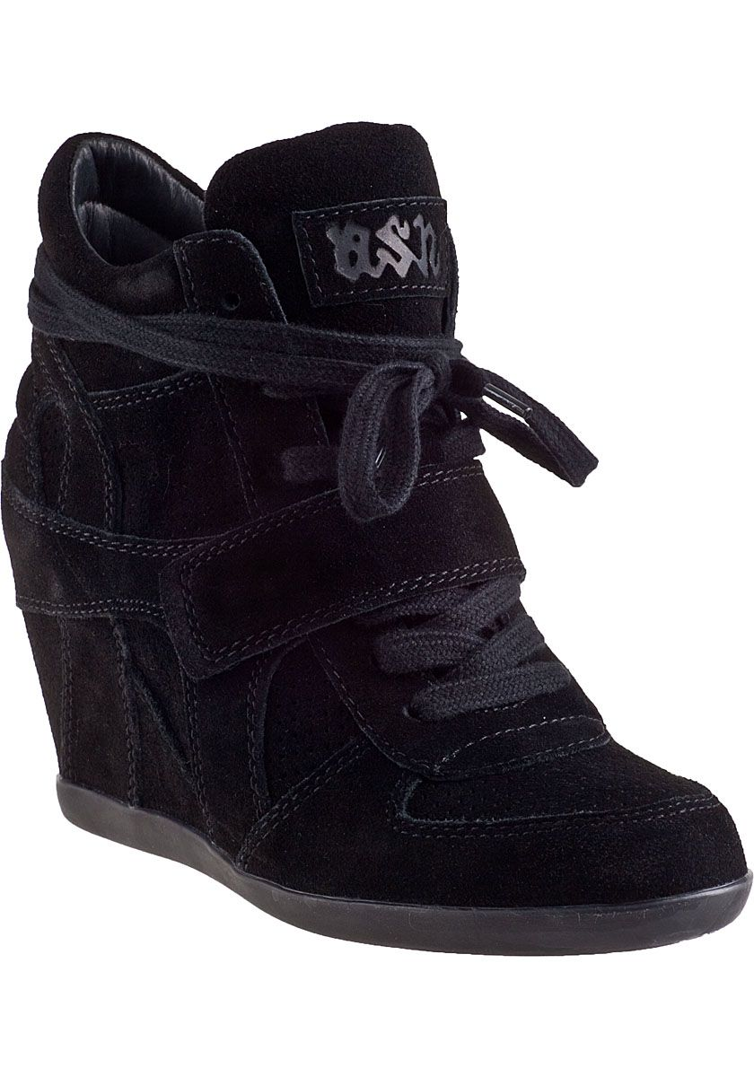 5aafc99b black wedge sneakers | Ash Bowie Wedge Sneaker Black/Black Suede - Jildor  Shoes, Since 1949