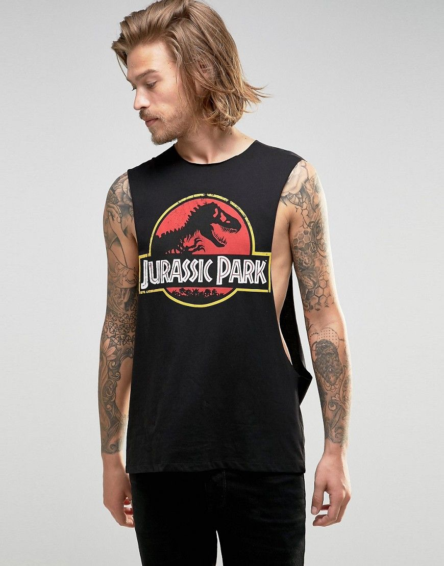 04c536cd7ec1 Jurassic Park Sleeveless T-Shirt With Extreme Dropped Armhole | More ...