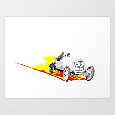 The finished drawing of classic race car number 22, the Pope Hartford. The paper is A2 size, that's why there's a bit more white then usual, but it gives the car speed. #rikreimert #art #crosshatching