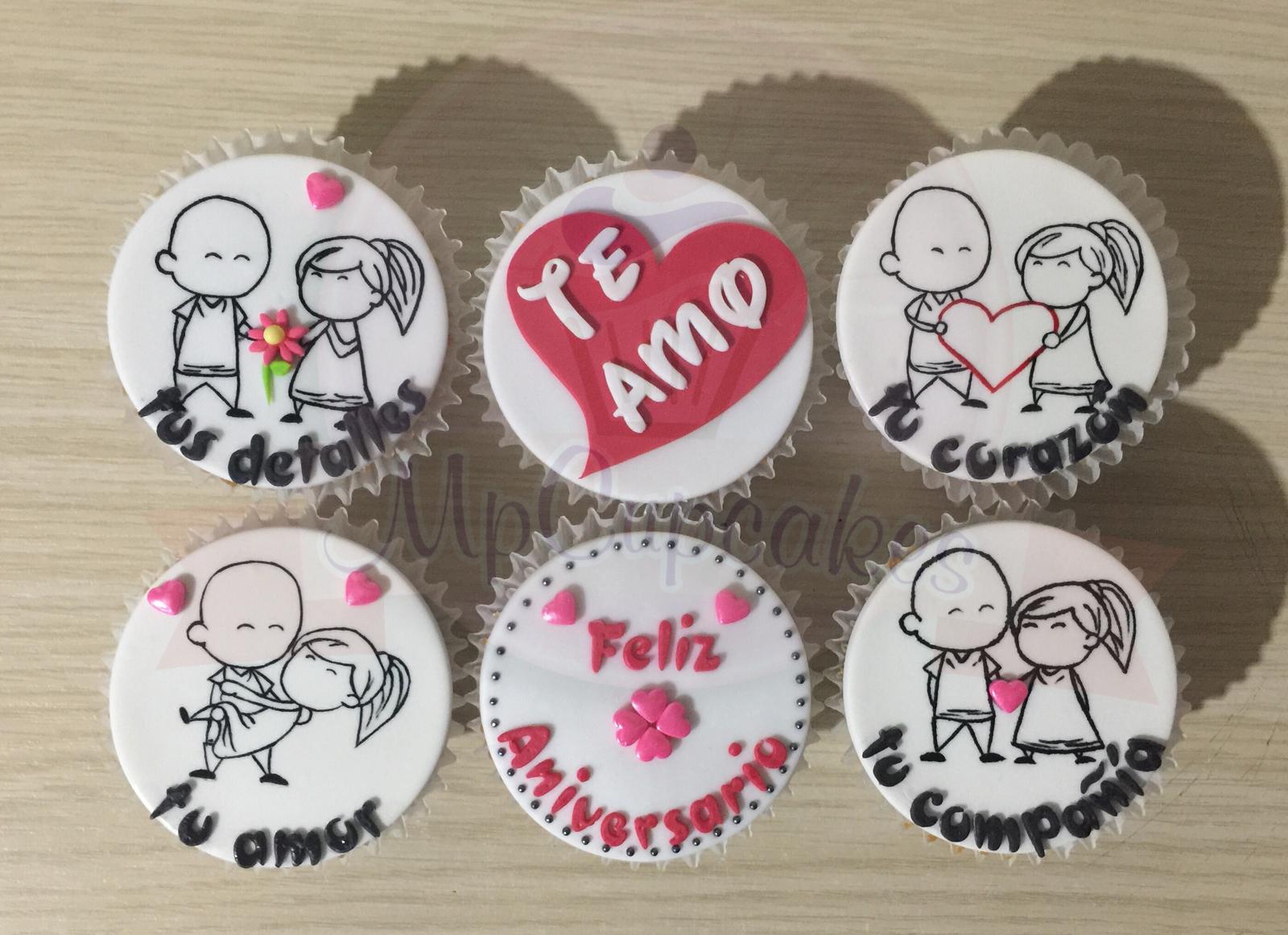 Cupcakes Cumpleanos Cupcakes Novios Cupcakes Aniversario Cupcakes