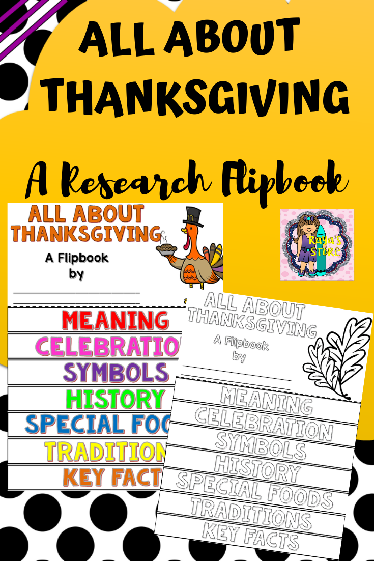 Thanksgiving Research Flipbook (All About Thanksgiving