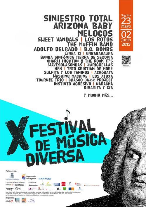 Cartel X Festival de Música Diversa de Segovia  #música #music #diversa #underground #rock #indie #folk #country #punk #electrónica #soul #funky #pop