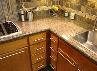 Granite Tile Countertops With Bull Nose Edge We Just Found Close To This Now Need Backsplash