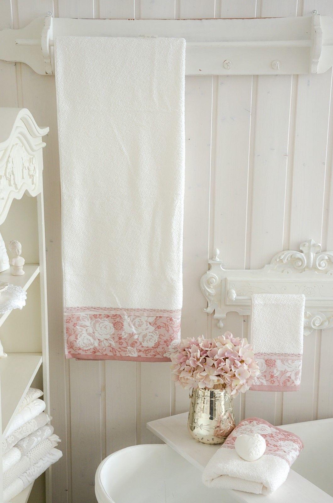 Details Zu Duschtuch Badetuch Handtuch Frottee 70 X 140 Towel Bad Shabby Landhaus Vintage Salle De Bain Salle Bains