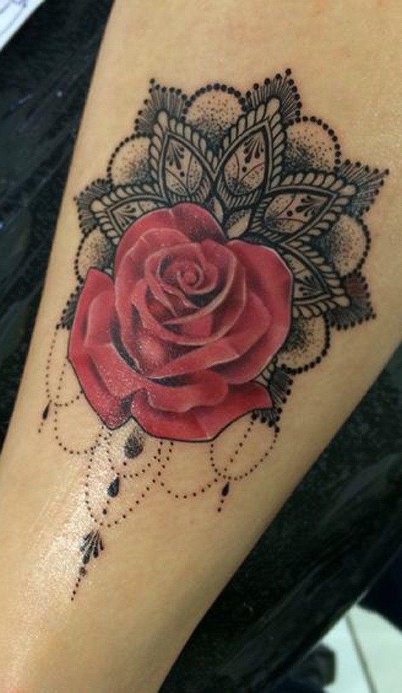 50+ Beautiful Rose Tattoo Ideas | Pinterest | Red rose flower ...