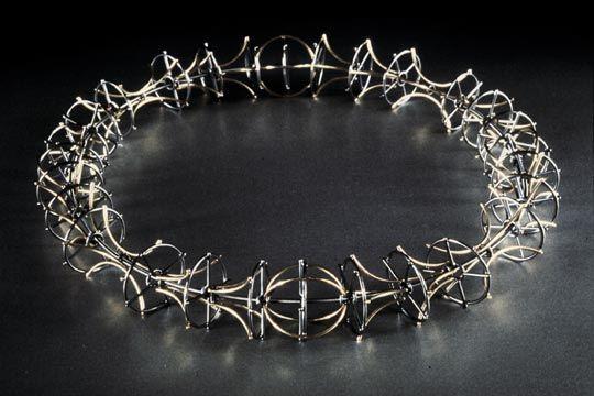 Necklace | Ben Neubauer.   Sterling silver, 18k gold