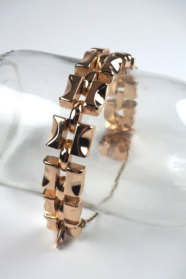Vintage bracelet patternart deco geometric easy retro