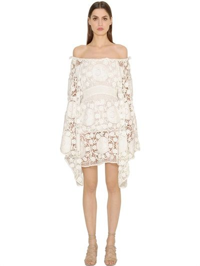 ced253988a99 CHLOÉ Crocheted Cotton Lace Dress