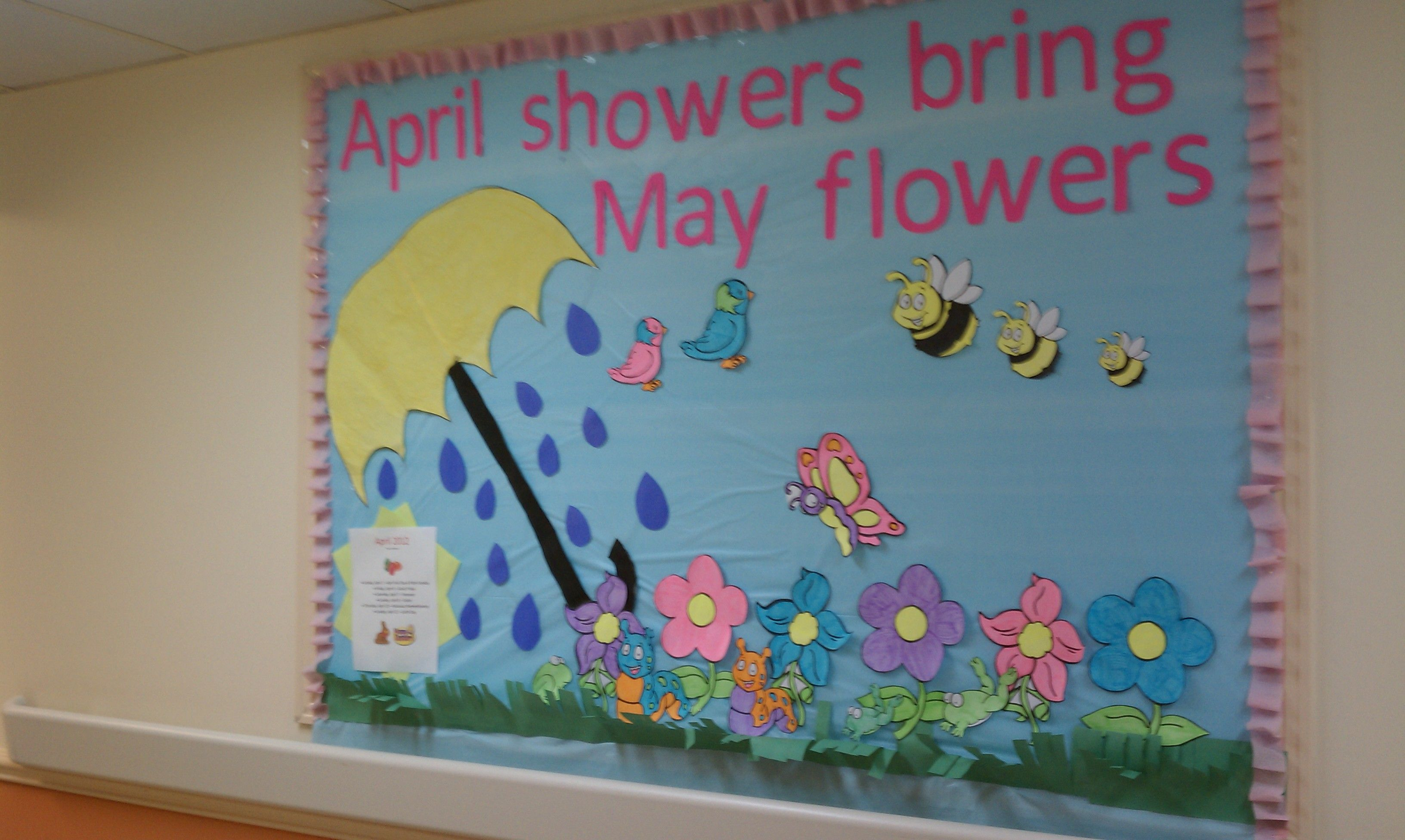 April Showers Bring May Flowers Bulletin Board