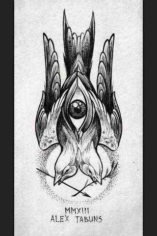Two Birds One Tattoo Tattoos Eye Tattoo Tattoo Designs