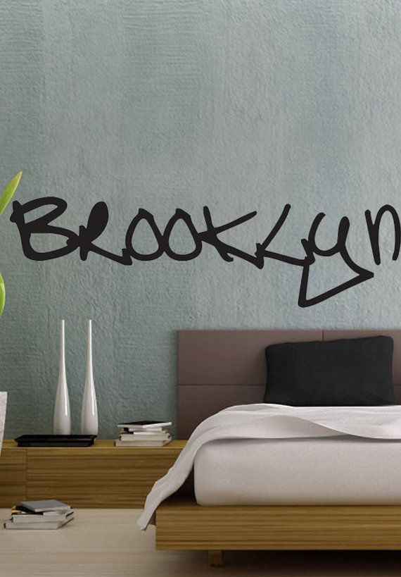 Brooklyn graffiti nyc art uber decals wall decal vinyl decor art sticker removable mural modern a862
