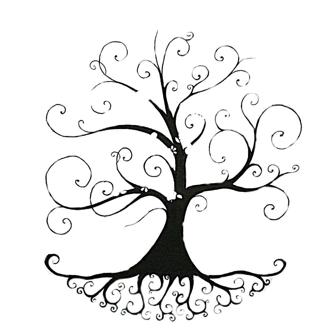 Mon futur arbre a empreintes desenhos - Dessin arbre simple ...