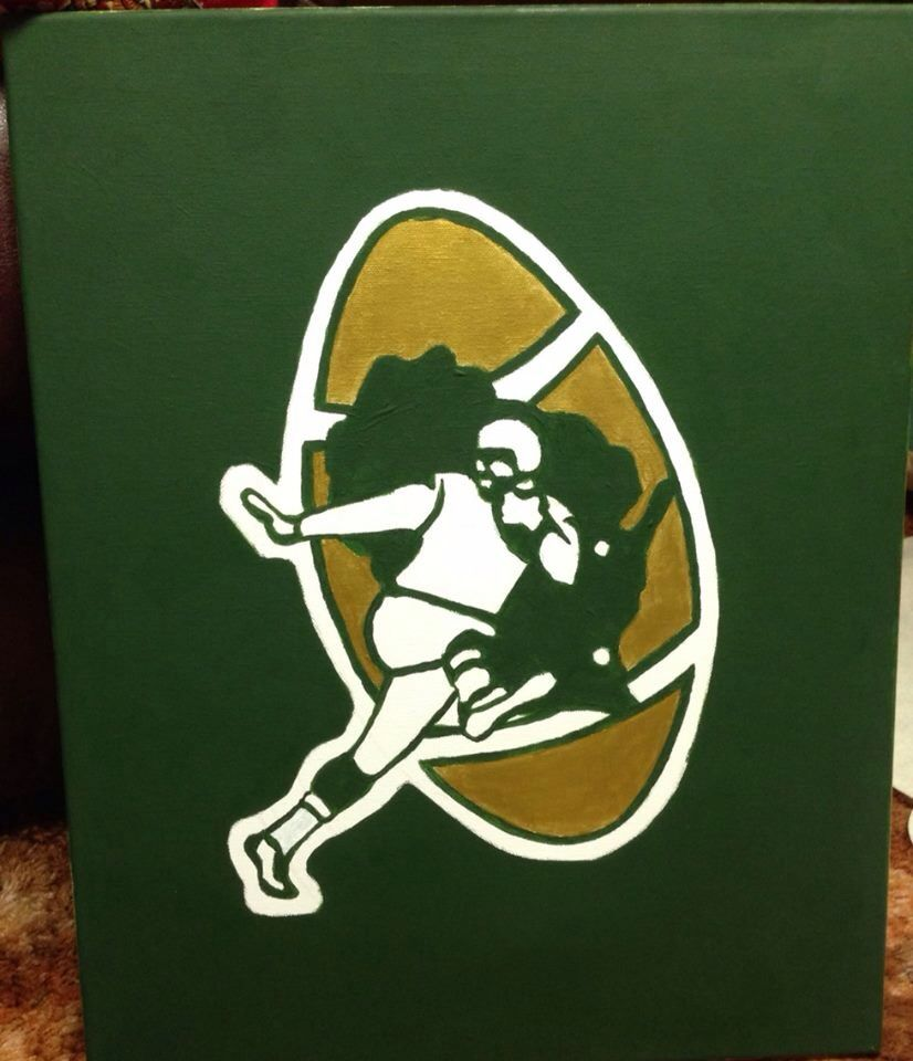 Throwback Green Bay Packer S Canvas Painting Canvas Painting Canvas Art Projects