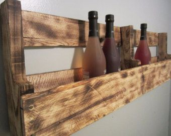 Reclaimed Wood Wine Rack, Wine Rack, Pallet Wine Rack, Wooden Wine Rack,  Wall Mounted Wine Rack Part 92
