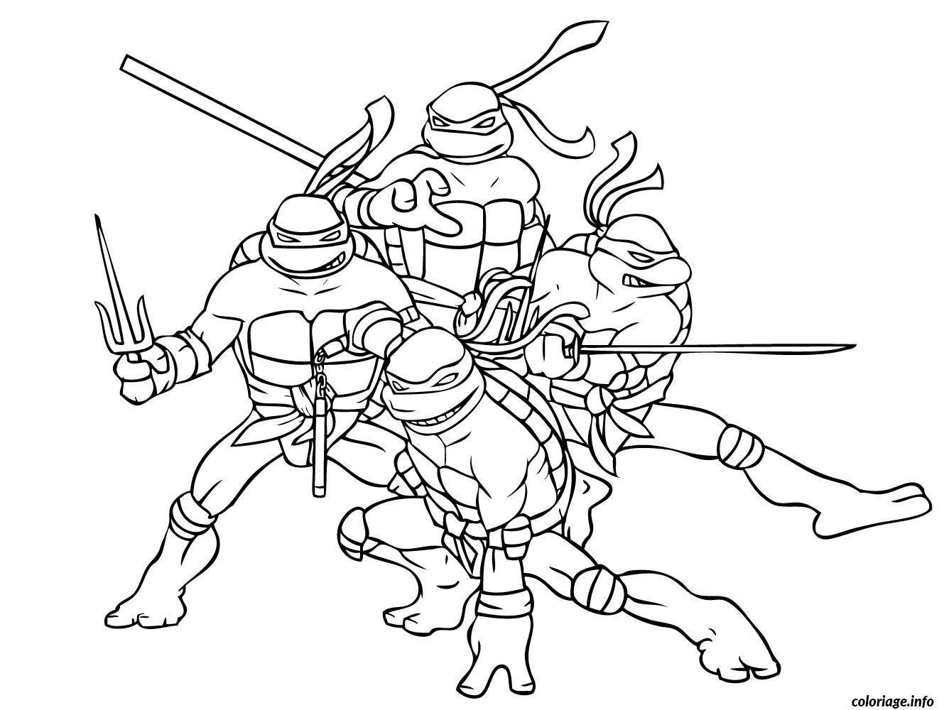 Coloriage tortue ninja 6 Dessin à Imprimer | bricolage déco | Pinterest