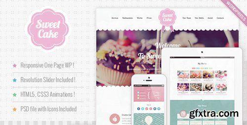 ThemeForest - Sweet Cake v2.1 - Responsive WordPress Theme