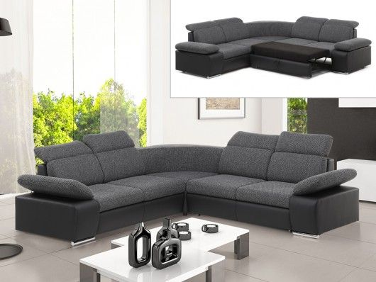 ecksofa schlafsofa symmetrisch stoff rabelais anthrazit schwarz wohnideen pinterest sofa. Black Bedroom Furniture Sets. Home Design Ideas