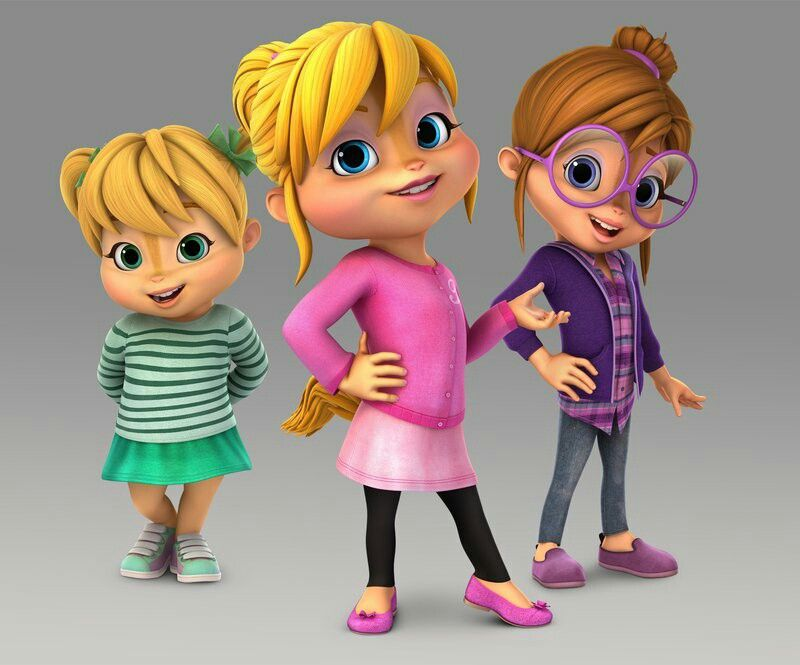 The Chipettes The Chipettes Alvin And The Chipmunks Happy Cartoon