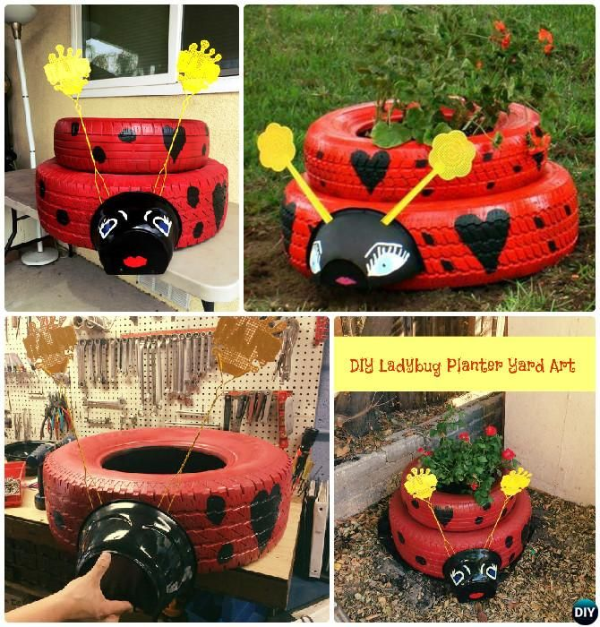 Diy Flower Gardening Ideas And Planter Projects: DIY Recycled Tire Planter Ideas For Your Garden [Picture