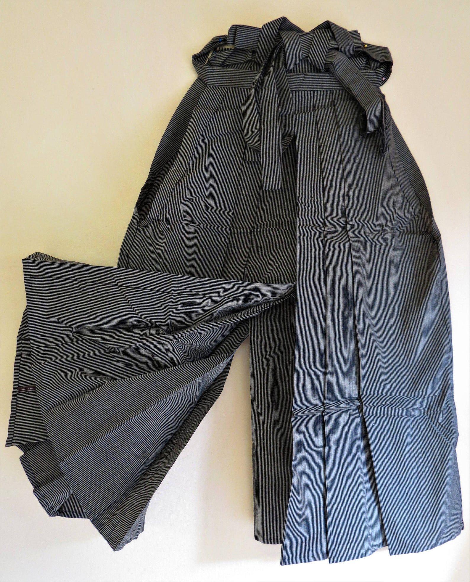 Japanese Kimono Men Hakama Umanori Grey Single Item Brand New