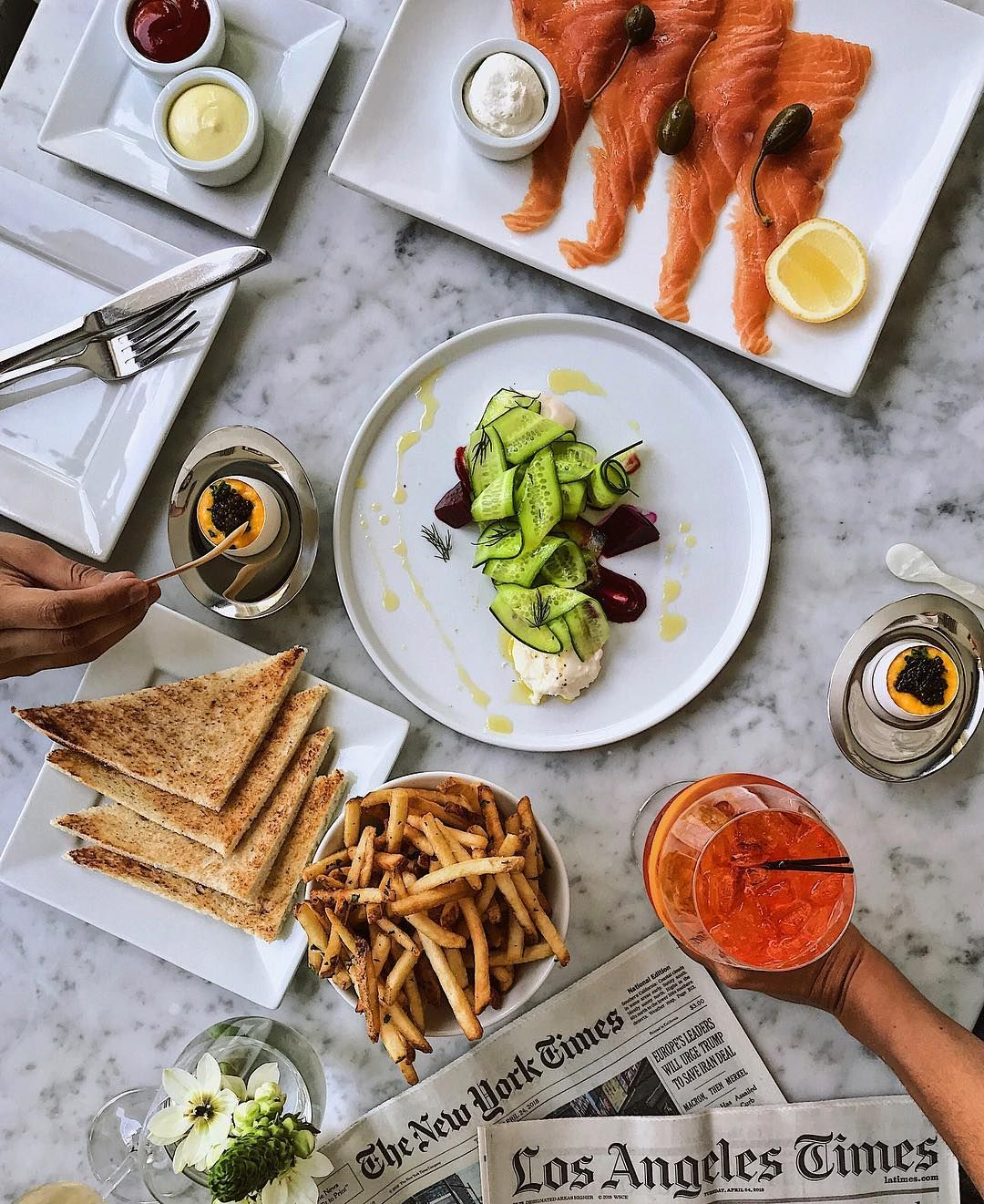 Brunch At Petrossian West Hollywood Restaurants Routine Vsco Caviar