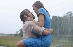 The Notebook kiss in the rain