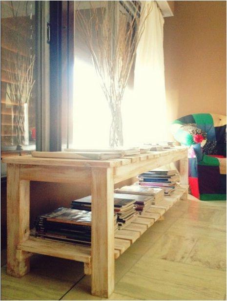 Mueble petiso tipo banco. Madera reciclada con decapado. Ideal para ...