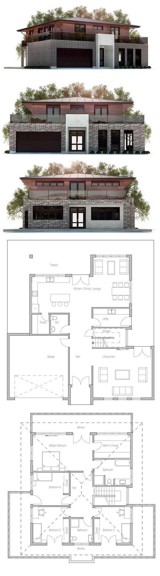 Planta de casa planos pinterest house - Como hacer planos de casas en 3d ...
