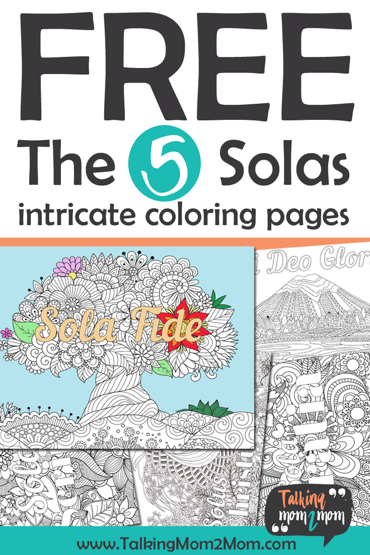 FREE The Five Solas Intricate Coloring Pages for Reformation Day ...