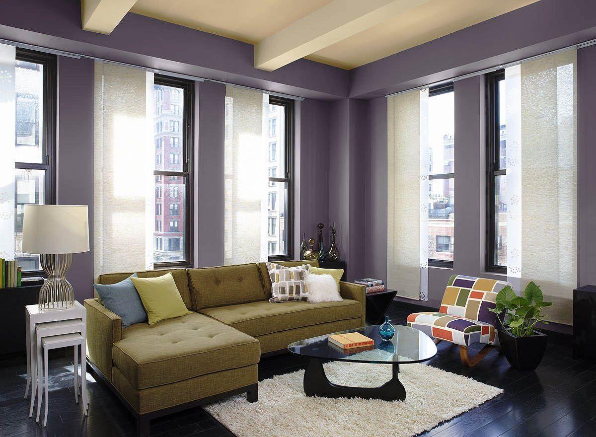 Warna Cat Ruang Tamu Modern Kombinasi Ungu Dan Krem Kombinasi 2