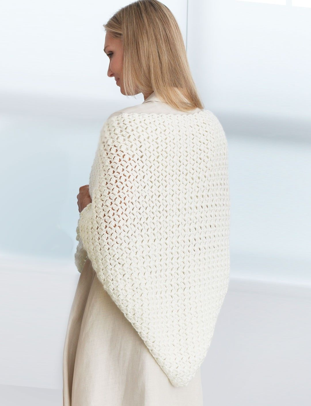 Yarnspirations.com - Bernat Crochet Prayer Shawl | Free Pattern ...