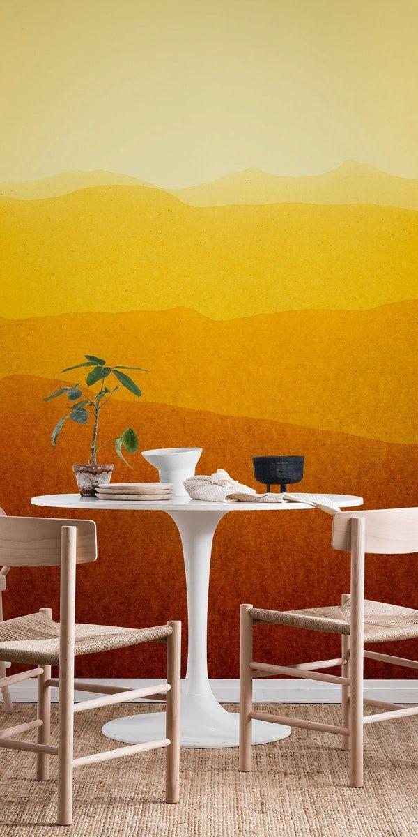 Gradient landscape sunshine edit Wall mural in 2020