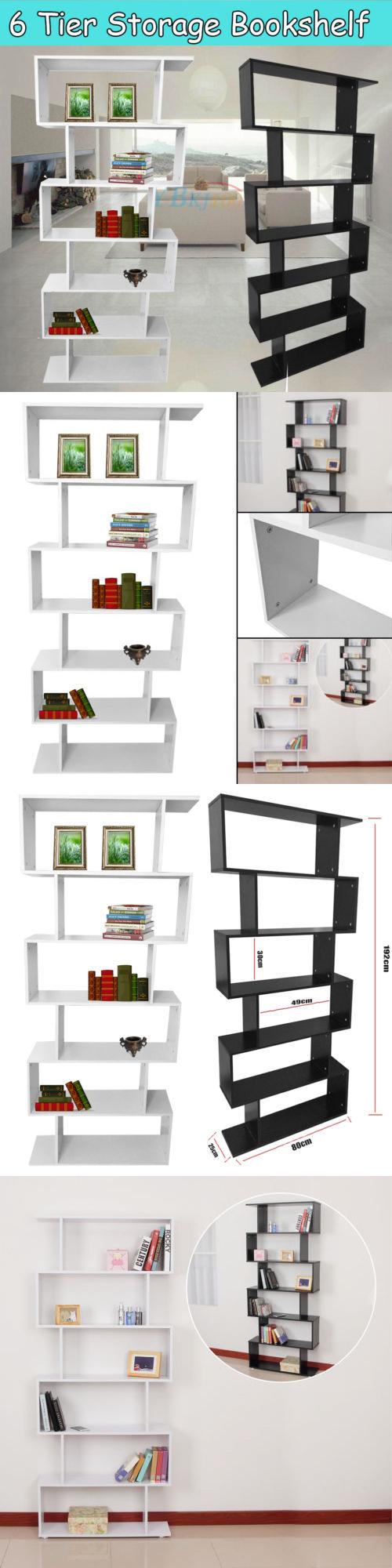 Bookcases display shelf storage bookshelf level tier ladder