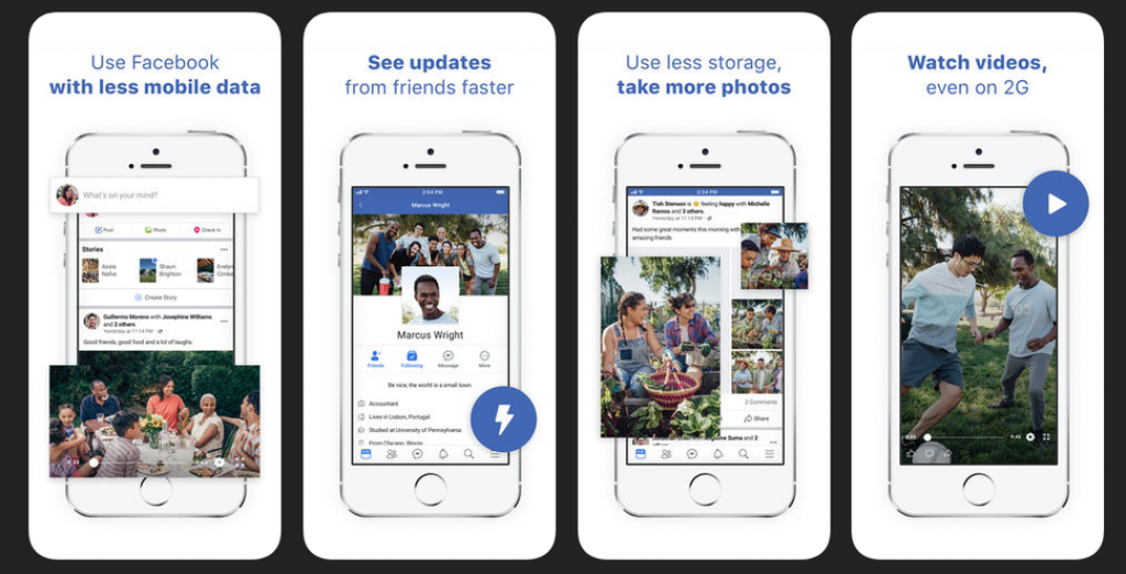 Facebook has launched the Facebook Lite version of its app