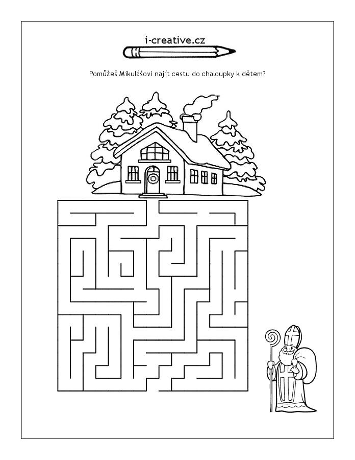 Labyrinth Nikolaus | Schule | Pinterest | Nikolaus, Arbeitsblätter ...