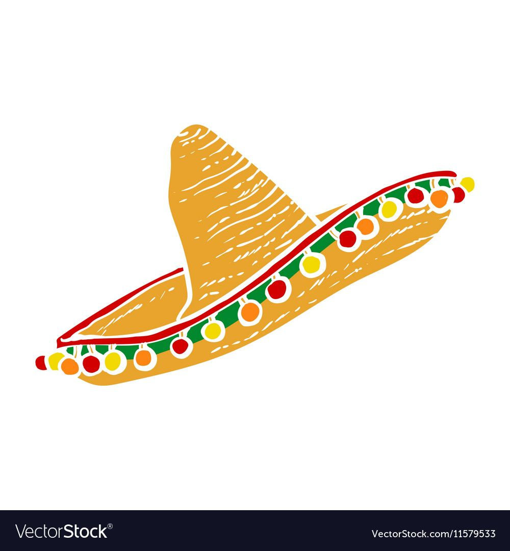 Traditional Mexican Wide Brimmed Sombrero Hat Vector Image Sponsored Wide Brimmed Traditional Mexican Ad Sombrero Mexican Pattern Mexican Designs
