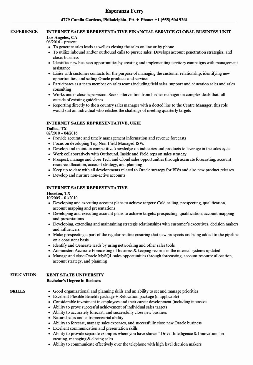 23 Sales Representative Resume Examples in 2020 Project